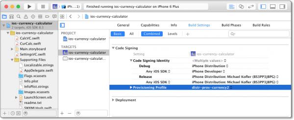 Die richtige Einstellung des Provisioning Profile ist Voraussetzung für den Upload einer iOS-App in den App Store