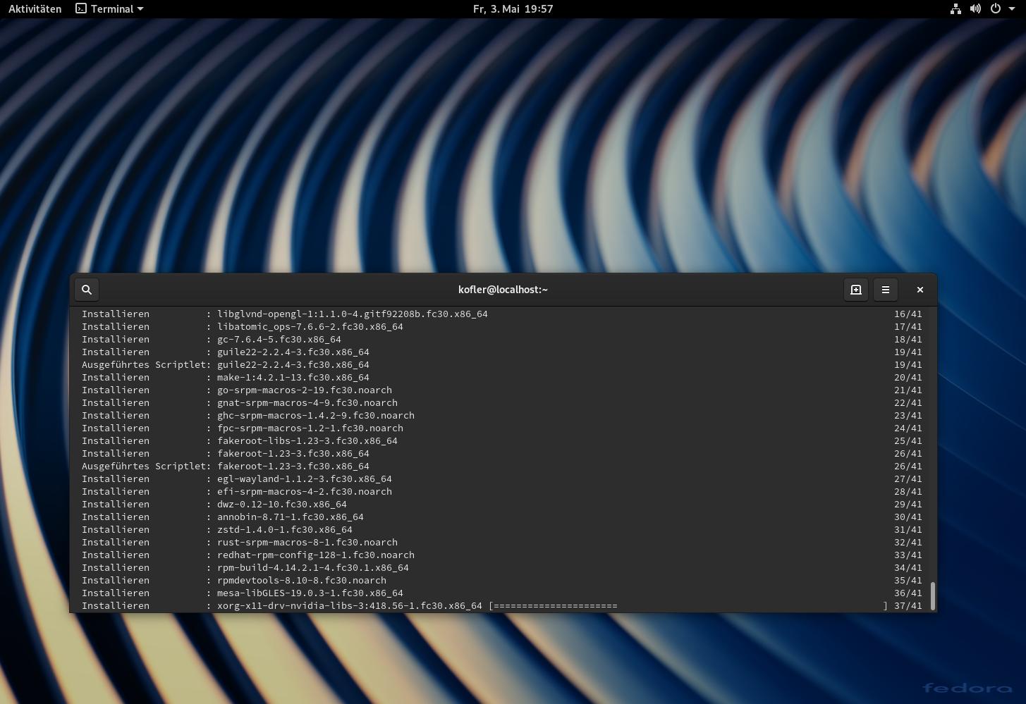 Fedora 30   kofler info