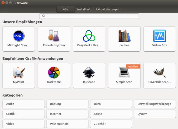 Desktop-Programme können nun mit dem Gnome-Programm »Software« installiert werden