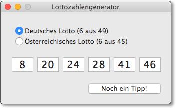 Ein Lottozahlengenerator als Hello-World-Beispiel zur OS-X-Programmierung