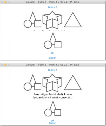 Experimente mit der neuen Stack-View (Klasse UIStackView)