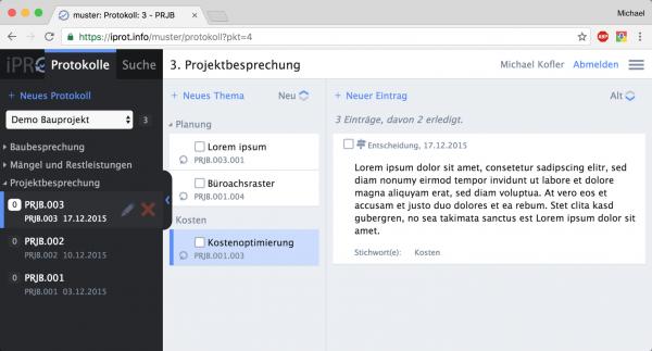 iPROT lässt sich in jedem Webbrowser nutzen