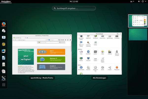 Gnome-Desktop unter openSUSE 13.2