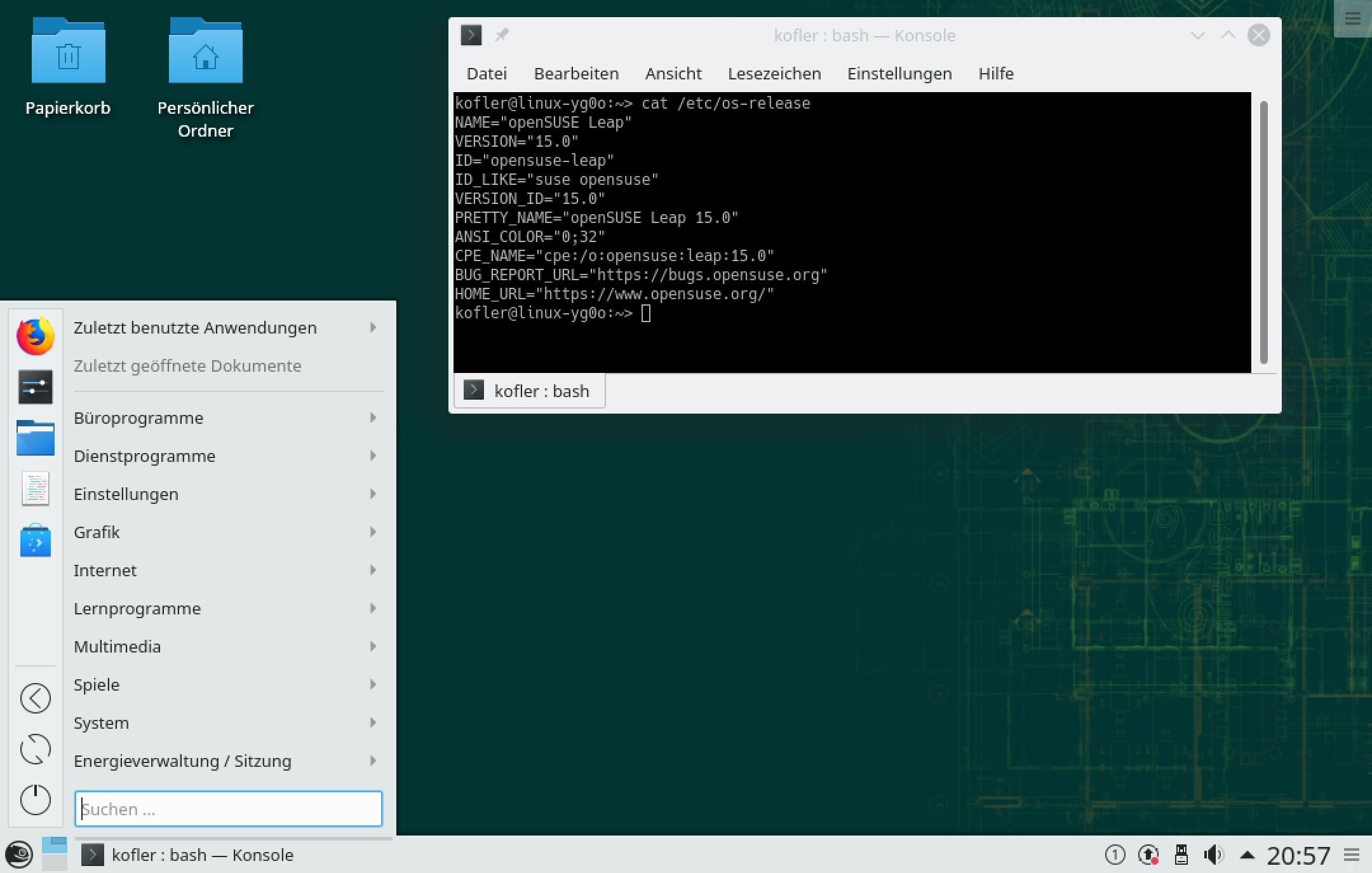 opensuse datei