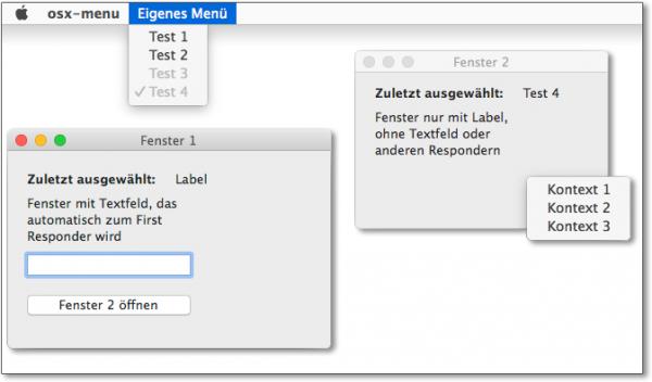 Den Umgang mit OS-X-Menüs erlernen