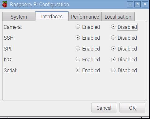 Hardware-Funktionen und SSH aktivieren/deaktivieren