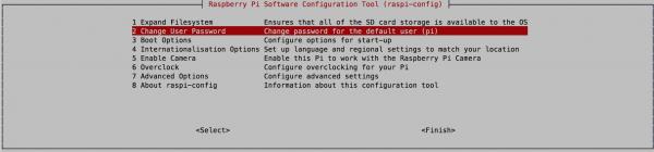 Passwort ändern mit »raspi-config«