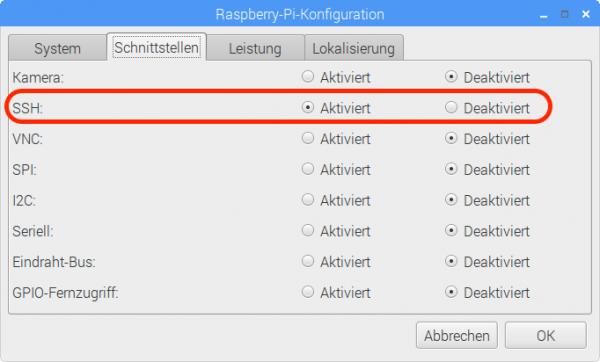 So aktivieren Sie den SSH-Server.