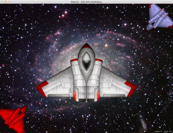 Bunte, verdrehte Raumschiffe