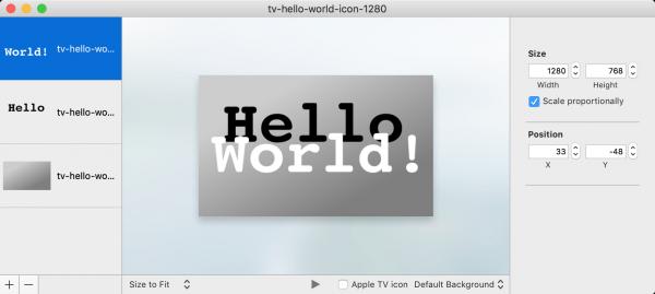 Im Parallax Previewer können Sie mehrere Bitmaps zu einem Icon zusammensetzen und als LSR- oder LCR-Datei speichern.