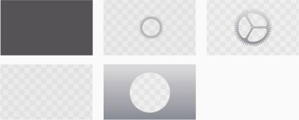 Die fünf Ebenen des Icons der Einstellungs-App von tvOS. (Quelle:  https://developer.apple.com/tvos/human-interface-guidelines/icons-and-images)