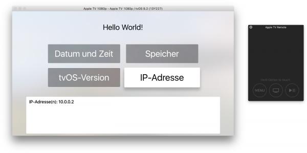 tvOS-App im Simulator ausprobieren