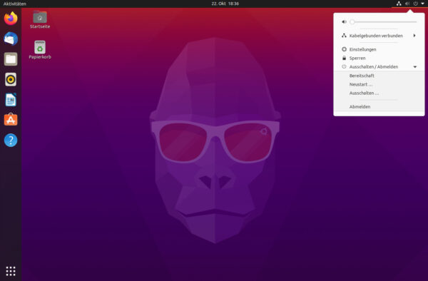 Der »Groovy Gorilla« im Desktop-Hintergrund