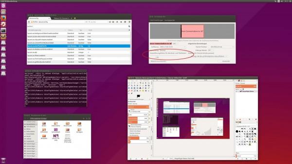 Ubuntu 15.10 Daily auf einem 4k-Monitor mit einem Skalierungsfaktor von 1,38
