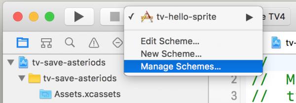 Um den Schema-Namen zu ändern, wählen Sie zuerst »Manage Schemes« aus ...
